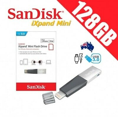 SanDisk iXpand Mini 128GB USB 3.0 Flash Drive Memory iPhone iPad Apple Tablet