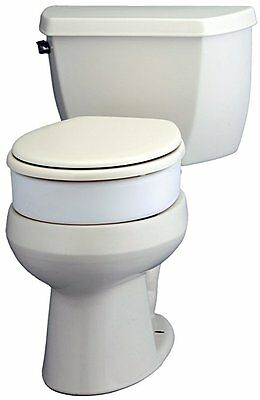 "Medical Toilet Seat Elevator Raised Elongated 3.5"" Height Handicap White New"