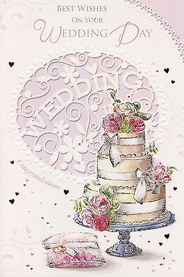 Best Wishes On Your Wedding Day Card Sentimental Verse Greeting 1stp P