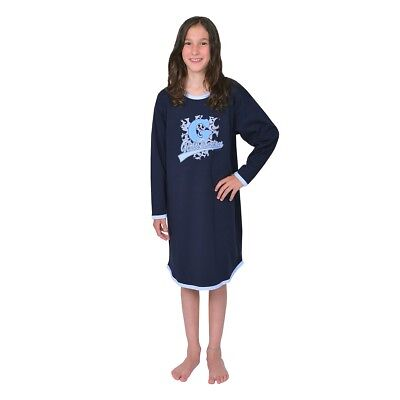 Betz long-sleeved Girls Nightgown 100% Cotton Girls Union Colour: navy-blue Size