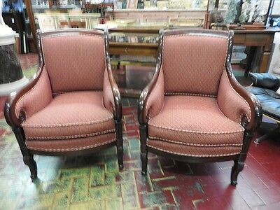 Pair Of Splendid Armchairs Style Empire Of 900 Grande Quality Grande Taste