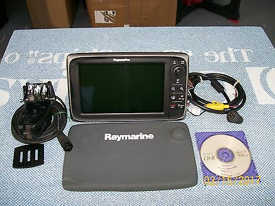 RAYMARINE c97 SERIES MFD, MANUALS, CABLES, FLUSH MOUNT, TRANSDUCER EXCELLENT