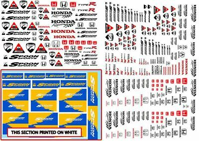 HONDA Spoon Racing Decals | Waterslide Transfers in 1/64 1/32 and 1/24 scale