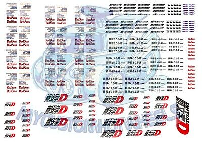 Initial-D AE86 & Redsuns Racing | Waterslide Decals in all Popular Model Scales
