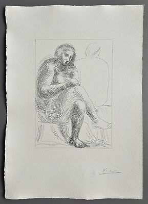 Pablo Picasso Suite Vollard Ltd Ed. Signed in Plate Lithograph 32x45cm Bloch 136