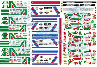 Martini, Alitalia & Castrol Racing | Waterslide Decals in all Popular Scales