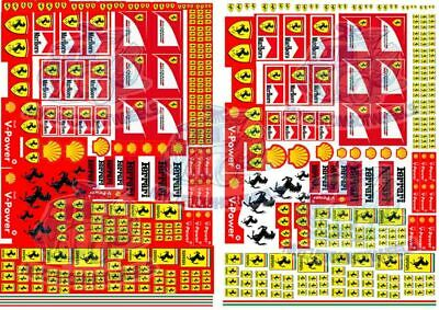 Ferrari Racing Pack | Waterslide Decals for Hot Wheels & all Scale Model Cars