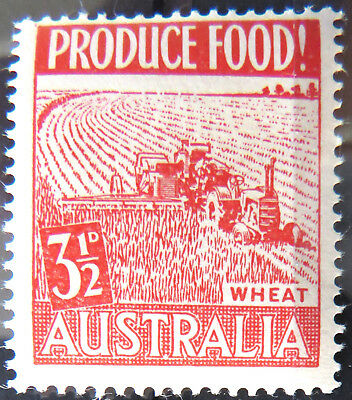 1953 Australian Pre Decimal Stamps: Food Production - Single - Red Wheat MNH