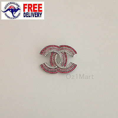 NEW Fashion BROOCH Pink Crystals Casual Office Pin Gifts