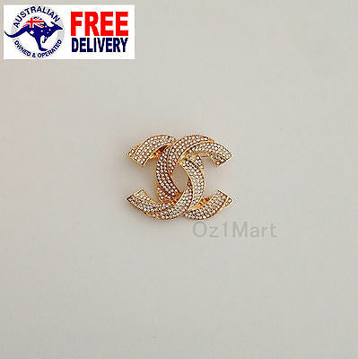NEW Fashion BROOCH Gold Crystals Casual Office Pin Gifts