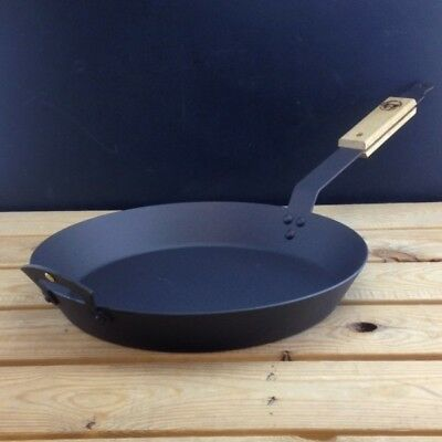 """Netherton Foundry 12"""" (30cm) Spun Iron Frying Pan with front handle"""