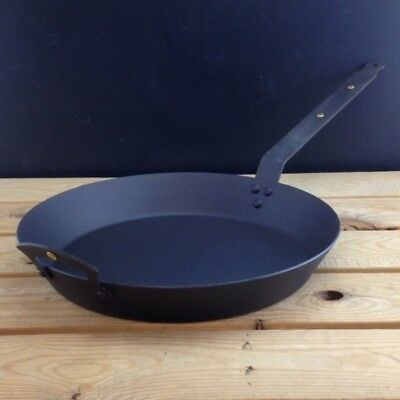 """Netherton Foundry 12"""" (30cm) Oven Safe Spun Iron Frying Pan with front handle"""
