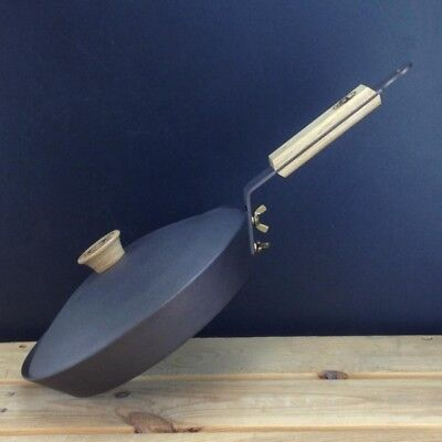 "Netherton Foundry 8"" (20cm) Spun Iron Glamping Pan with lid"