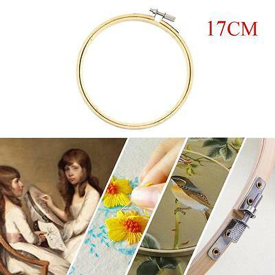 17cm Embroidery Hoop Circle Round Bamboo Frame Art Craft DIY Cross Stitch @XF
