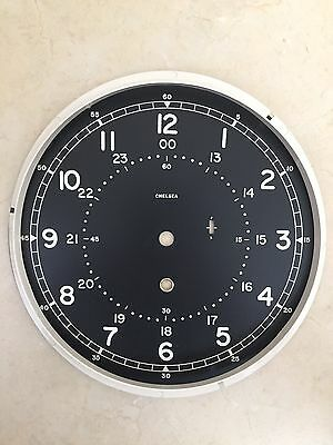 Chelsea Clock 8.5 Inch Type B 12/24 Hour Black Dial & Reflector