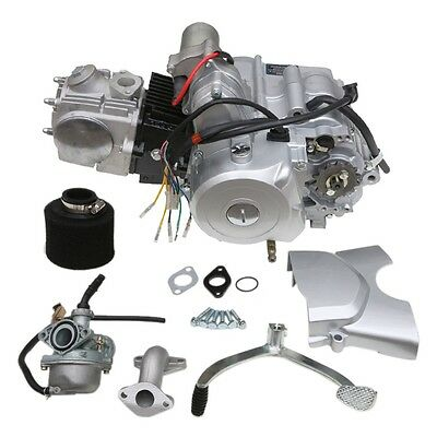 125cc 3+1 SEMI AUTO ENGINE+CARBY+Air filter FOR 4 STROKE QUAD ATV BUGGY MOWER