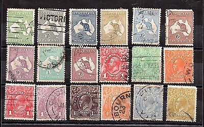 Australia collection of Roos and Heads unchecked WS5533