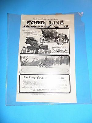 Turn of the Century Vintage Broad Sheet Advertising Horse Carriages and Ford