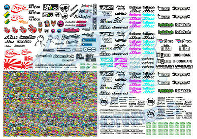 JDM 1 - Illest Fatlace Stickerbomb | Waterslide Decals in all scales up to 1/18