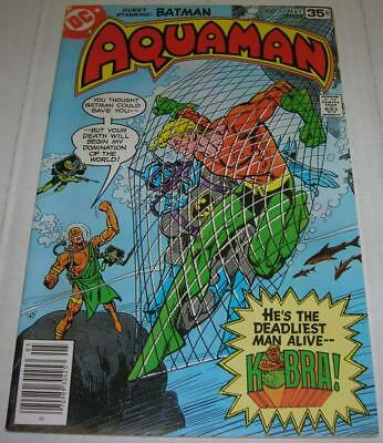 AQUAMAN #61 RARE DC QUESTIONNAIRE COPY (DC Comics 1978) BATMAN app (FN/VF)