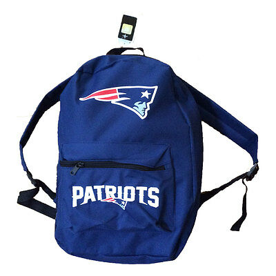 New England Patriots Canvas Backpack Navy New Book  Bag