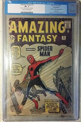 AMAZING FANTASY #15 CGC Original Blue Label 1st Appearance Spider-Man