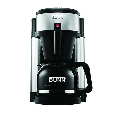 BUNN NHS Velocity Brewer 10-Cup Home Coffee Brewer NHS New With Drip Free Carafe