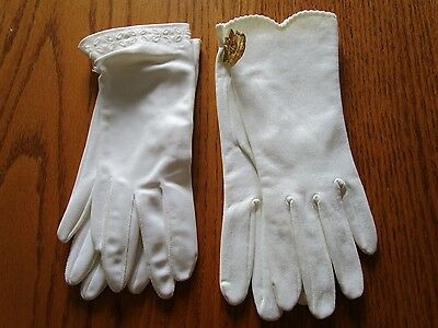 2 Pair White Gloves-Unused