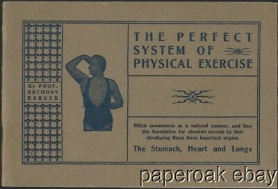 ca1900 The Perfect System Of Physical Excercise By Prof. Anthony Barker Booklet