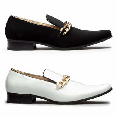 Mister Carlo SOVEREIGN Mens Faux Leather Smart Pointed Toe Slip On Loafer Shoes