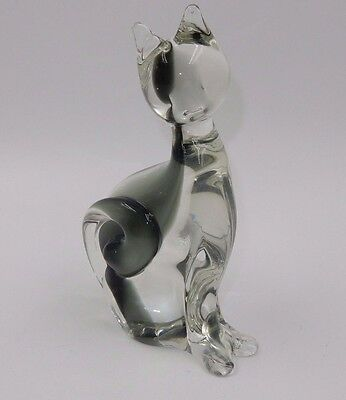 "Gorgeous Murano ""vetreria Artistica"" Glass Cat With Long Tail"