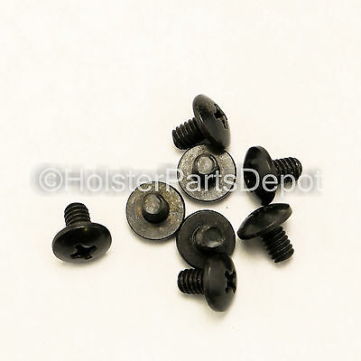 "Truss Screw Phillips 1/4"", Balck Oxide, Gun Holster Making 100 Pack FREE S&H"