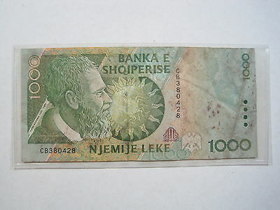 Albania 1000 Leke 1996 P65 Cir #x Bank Shqiperise World Banknote Paper Money