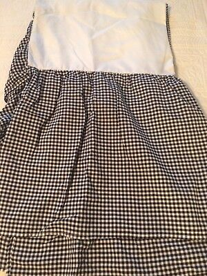 Tadpoles Black White Gingham Check Crib Skirt