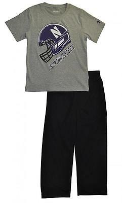 Under Armour Boys Northwestern Wildcats Dry Fit Top 2pc Pant Set Size 5