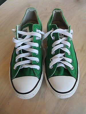 Converse All Star Classic Kelly Green Lace Up Sneakers Size Women 8 Men 6