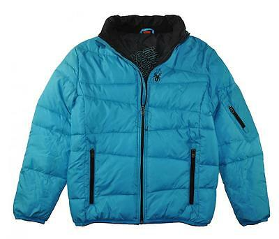 Spyder Boys Pelmo Fill Puffer Coat Baby Cyan Blue Size 10/12 (Medium)