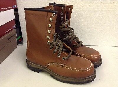 Tuffking Leather Work/safety Boots Size 6 New Brown