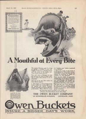1925 Owen Bucket Co Cleveland OH Ad: One Yard Type O Bucket Excavation Purposes
