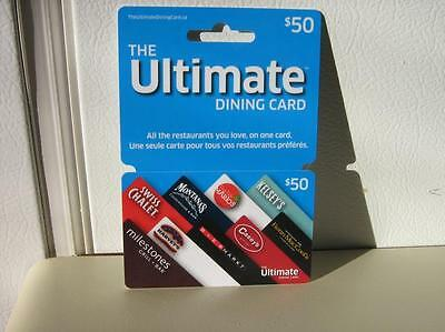 Ultimate Dining Gift Card $50 balance