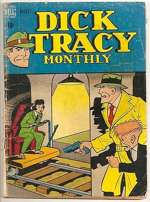 D423 Dick Tracy 8 Dell Golden Age Comic Book