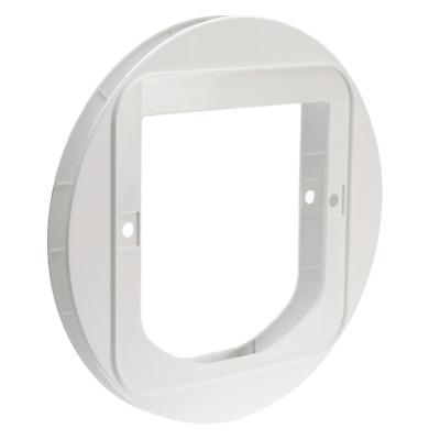 SureFlap Cat Flap Pet Door/Gate-Mounting Adaptor-Glass-Microchip Dual Scan-White