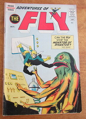 Adventures of the Fly comic book #15 Oct 1961 Archie Adventure Series 5.0 Vg/F