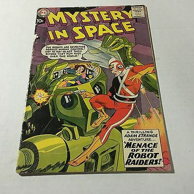MYSTERY IN SPACE #53 DC Comics Silver Age Key 1st Adam Strange in title #C good+