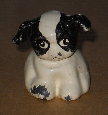 """Antique Solid Steel Paperweight PUPPO (Kiddo's Dog) 1 3/4"""" Tall, 7oz,"""