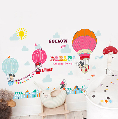 minnie mickey mouse wall stickers kids room decoration vinilo infantil