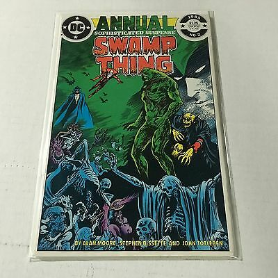 SWAMP THING ANNUAL #2 DC Copper Age Key Issue JUSTIVE LEAGUE DARK Alan Moore NM-