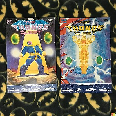 THE THANOS QUEST 1 & 2 Complete Run Lot Set SECOND 2nd Print Sold Out 1990