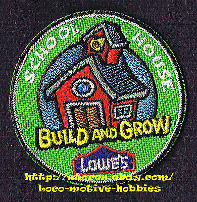 LMH Patch  TEN (10) 2010 SCHOOL HOUSE Old Time Red  LOWES Build Grow Clinic LOT