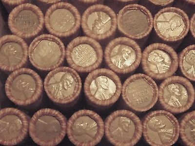 unsearched wheat pennies rolls 1909 -1958 all mints all dates possible
